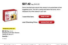 Thanks toHBF ReaderMichael for this tip! Target is discounting a few different Spiegelau Beer Glasses included the pictured Craft Beer Tasting Kit, their new IPA Glass and Lager and Pilsner Glass...