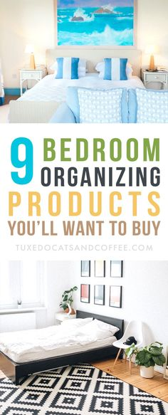 Is your bedroom more of a cluttered mess than a peaceful, sleep-inducing haven? Here are 9 bedroom organizing products to help you organize your bedroom with ease and style. Declutter Your Home, Organize Your Life, Organizing Your Home, Clutter Organization, Home Organization Hacks, Bedroom Organization, Organizing Solutions, Organizing Tips, Bookcase Headboard