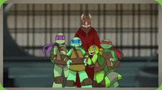 Even though I don't really like this version of tmnt that much, I found this to be adorable!!!