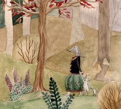 On the way home - by lillap The Way Home, Gouache, Bunny, Artist, Paintings, Illustrations, Paint, Hare, Painting Art