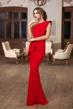 Chicken Enchiladas Discover Red maxi dress Jersey dress with one shoulder Occasion dress for woman long elegant dress Luxurious dress floor dress Wedding red dress Trendy Dresses, Elegant Dresses, Beautiful Dresses, Fashion Dresses, Robes D'occasion, Maxi Robes, Dress Dior, Dress Red, Red Maxi