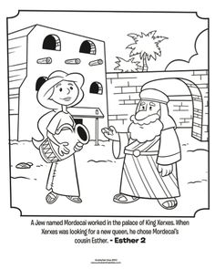 Esther and Mordecai - Bible Coloring Pages | What's in the Bible?