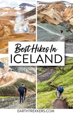 Best day hikes in Iceland, including Fimmvorduhals, Glymur Waterfall, the Skogafoss Waterfall Way, Mount Esja, hikes on the Snaefellsnes Peninsula, and more. #iceland #hiking #adventuretravel Iceland Destinations, Iceland Travel Tips, Europe Travel Guide, Iceland Hikes, Travel Guides, Places To Travel, Places To See, Road Trip, Wanderlust