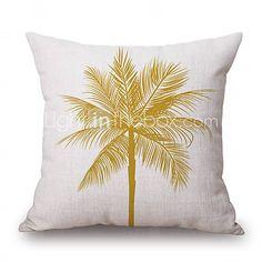 Cotton/Linen Pillow Cover,Novelty / Textured / Graphic Prints Accent/Decorative…
