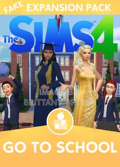 The Sims 4 Go To School Expansion Pack. Cap and Gown by Mathcope School, school uniforms by Margies Sims, school lot in background by KawaiiStacie. The Sims 4 Expansões, Sims 3, Los Sims 4 Mods, Sims 4 Game Mods, Die Sims 4 Packs, Sims 4 Game Packs, Sims 4 Mods Clothes, Sims 4 Clothing, Maxis