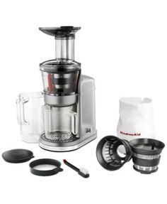 KitchenAid KVJ0111 Maximum Extraction Slow Juicer, $50 Mail-In Rebate Available  | macys.com