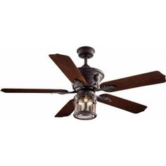 Hampton Bay Milton 52 in. Indoor/Outdoor Oxide Bronze Patina Ceiling Fan-AC370-OBP at The Home Depot
