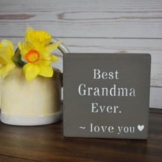 ❤ The perfect Valentine Gift for your Grandma ! Warm her heart with this sweet, little sign. Beautifully handcrafted and painted on all sides. The perfect Grandmother Gift ! Country Birthday, Mom Birthday Gift, Nana Gifts, 21st Gifts, Barn Wedding Decorations, Valentine Decorations, Rustic Nursery Decor, Christmas Coasters, Barn Wood Signs