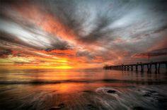 Sunset at Largs Pier, South Australia.