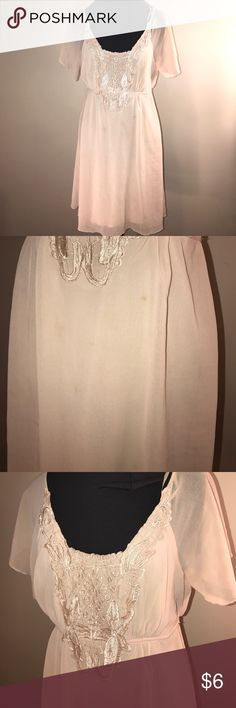 Ivory Chiffon Forever 21 Dress WORN/AS IS Ivory Chiffon Forever 21 Dress WORN/AS IS Forever 21 Dresses Wedding