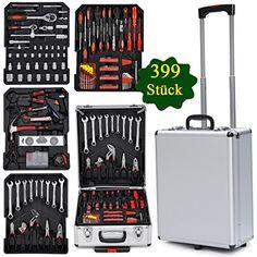 Yahee365 399-teilige Universal Werkzeugsatz Werkzeugmappe im praktischen Koffer mit frei Handschuhe