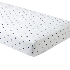 Little Prints Crib Fitted Sheet (blue Triangle)