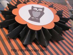 Boo Banner created with the Artiste Cartridge and the Spellbound Cricut Kit  http://drphilscraps.com