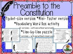 This is a graphic of Crush Kid Friendly Constitution Printable