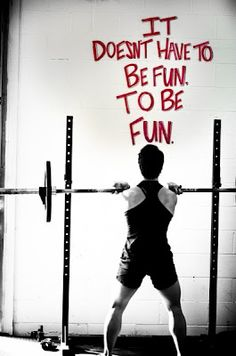   it doesnt have to be fun to be fun.