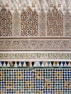 Typical Moroccan Tiles, Marrakesh, Morocco Fotoprint van Gavin Hellier - bij AllPosters.be