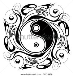 I like the flowing scroll work surrounding the Yin Yang. Adds a delicate, artistic quality.
