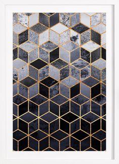 Daydream Cubes - Elisabeth Fredriksson - Gerahmtes Poster