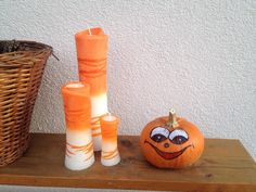 Betana Candles Collection Orange from € per piece - handmade candles - M . Candle Art, Handmade Candles, Orange, Decor, Collection, Candles, Dekoration, Ideas, Decoration