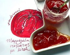 A simply super Tomato marmalade flavoured with kirsch. Easy, basic recipe and multi-tested to keep the full aroma and taste of the tomato. Food Styling, Red Tomato, Greek Recipes, Good Food, Food And Drink, Cooking Recipes, Sweets, Vegetables, Tableware