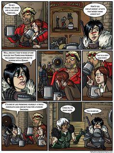 thepunchlineisdragonagecomics.com The punchline is machismo Funny Comic
