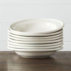 Set of 8 Dinette Low Bowls - Crate and Barrel