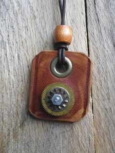 Something to Share! Steampunk Leather and Vintage Watch Gear by FragmentedTime on Etsy, $30.00