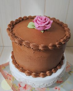 The Sweetest Taste: Double Chocolate Layer Cake