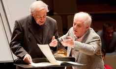Pierre Boulez and Daniel Barenboim