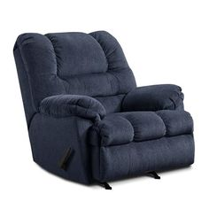 Simmons Upholstery 600 Simmons Motion Rocker Recliner  Simmons Motion Rocker ReclinerBig man's three position rockerreclinerFully padded chaise and