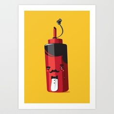 Fancy Ketchup Art Print by Fightstacy