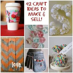 42 Easy To Make Crafts You Can Sell! Why not make something and sell it? It can be a great way to earn money! Turn your passion into something profitable. These are great projects you can make to sell or give as gifts. These are easy and inexpensive! #easytomakecrafts #craftstosell #adorablegiftideas
