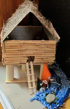 how to make a stilt house model