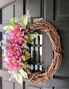 Spring Wreath https://www.etsy.com/listing/586879950/spring-wreath-summer-wreath-farmhouse