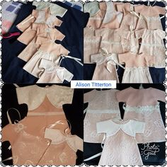August 2017, a selection of items that make up our baby Bereavement Packs, made by our wonderful volunteers to ensure every UK Angel Baby has the chance to be dressed in a gorgeous Angel gown, with accompanying blanket, nappy, hat and bootees. All gowns made from a UK donated wedding dress.