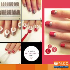 Try this interesting #NailArt this #Valentines Day!  Have a special tip this valentine's? Share with us in the comments below.