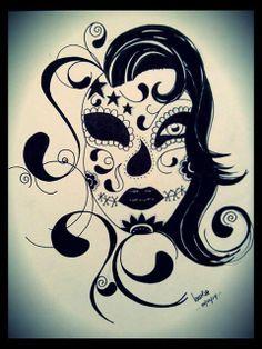@ Mines de Laure (Laure Revolu)  Inspiration tatouage Sugar Skull