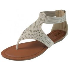 61f75c7bfcdc W6900- Wholesale Women s Studded Sandal with Back Zippers Studded Sandals