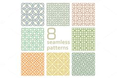 linear pattern set 2 by Watchada's factory on Creative Market