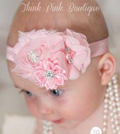 Baby headband, baby headbands, Pink headband,newborn headband,shabby chic headband, Easter Headband, baby headband,flower headband,Hair bows