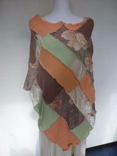 """Capes & Ponchos - Poncho """"Flower"""" - ein Designerstück von AutumnFlowers bei DaWanda"""