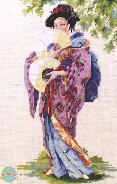 Janlynn - Oriental Lady - Cross Stitch World