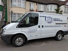 One of many BW Electricals van graphics. Van Signs, Electrical Engineering, Vinyl Lettering, Signage, Graphics, Vehicles, Creative, Prints, Graphic Design