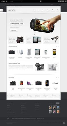 Best Prestashop themes: Arundo #prestashop #ecommerce #theme  header อลังการ