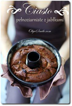 Ciasto pełnoziarniste z jabłkami - przepis Olgi Smile