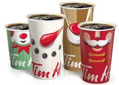 Who Has Cuter Holiday Cups: Starbucks Or Tim Hortons? Are You Being Served, Coffee Lover Gifts, Coffee Lovers, Tim Hortons, Tech Gifts, Retail Design, New Recipes, Starbucks, Christmas Decorations
