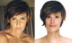 O rosto triangular (ou coração) como o de Deborah Seco, pede fios desfiados.