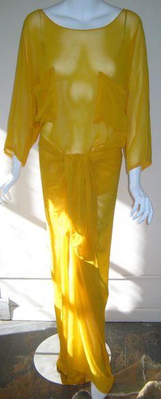 vtg PATICK KELLY amazing vintage 1980s sarong by saffronvintage, $375.00