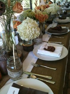 Thanksgiving table setting created by Jessica with Let's Set a Date Co.