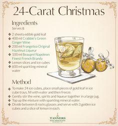 24-Carat Christmas - Christmas Cocktail Recipe Card